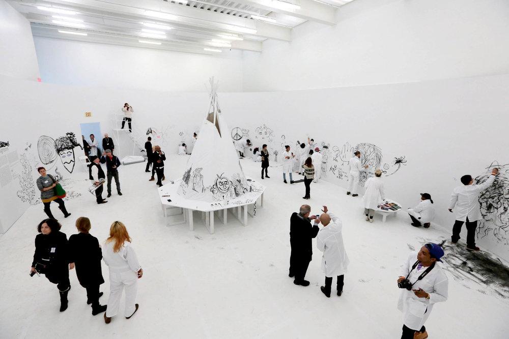 "Pawel Althamer, ""Draftsmen's Congress"" at New Museum"
