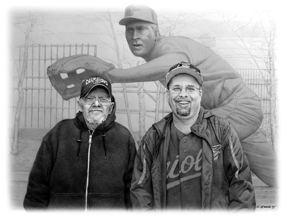 Dave Sr. and Jr. - Oriole fans