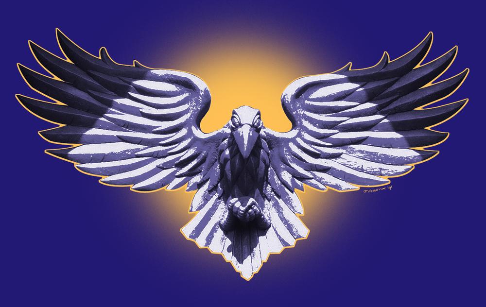 Ravens Statue