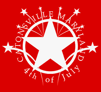 Catonsville 4th of July T-Shirt back neck