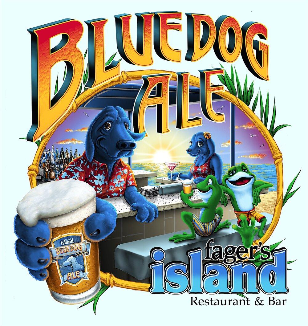 Blue Dog Ale ~ Fagers Island