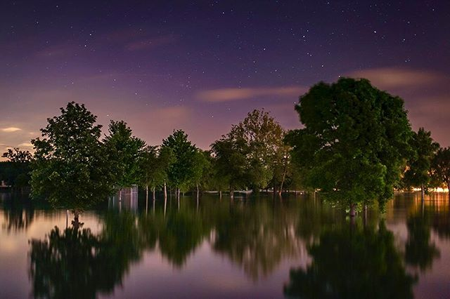 Flood stage. * * * *#instagood #2instagood #noicemag #night #nightphotography #nightsky #nightscape #nightshooters #night_shooterz #night_shots #lowlightphotography #longexposure #longexposure_shots #longexposureoftheday #longexpo_addiction #moodygrams #instalike #flood #river #ecological #climatechange #naturegram #