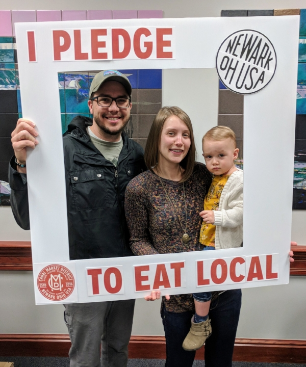"""We pledge to eat local because it's real and wholesome food.""  -Kyle, Megan, and Rosalind, Canal Market District regulars"