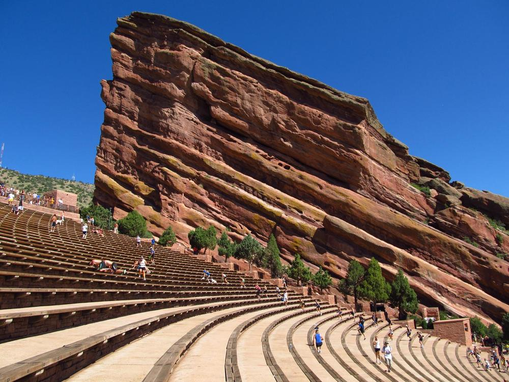 Red Rocks Amphitheatre During The Day