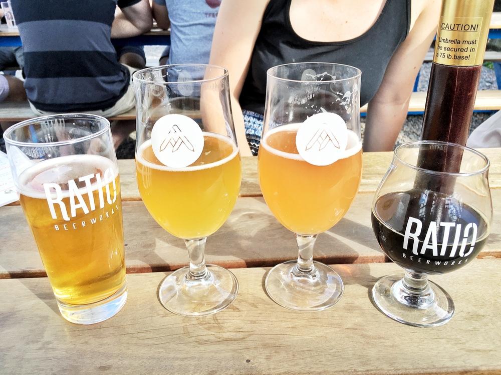 Outdoor Patio at Ratio Beerkworks