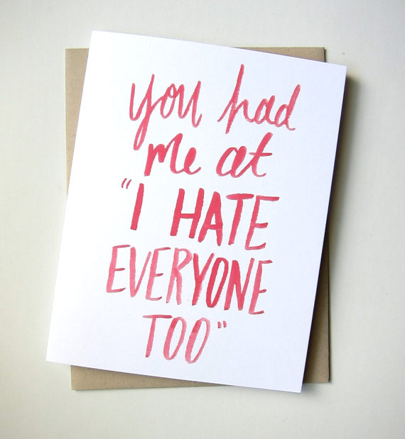 hate everyone valentines day