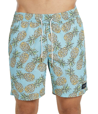BARNEY COOLS PINEAPPLE PRINT SWIM TRUNKS  $47