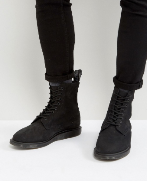 DR. MARTENS 8 EYE WEDGE BOOTS    $130