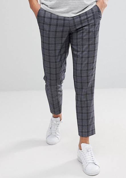 ASOS CROP PANTS IN GRAY CHECK  $48