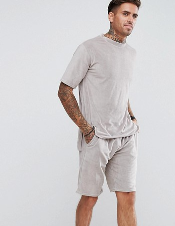 BOOHOO TOWELING T-SHIRT & SHORTS SET  $40