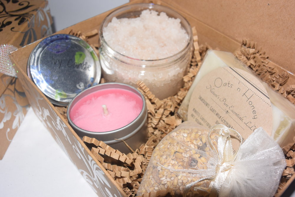 "Luxurious ""Oats and Honey"" self-love kit from Pure Escentials."