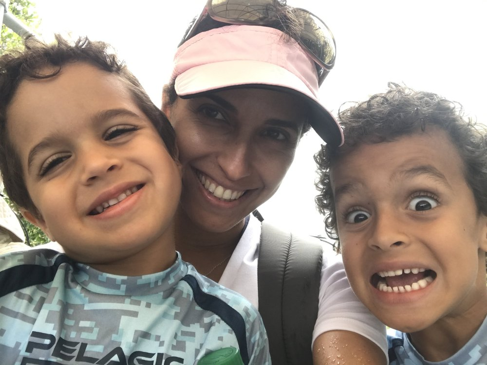 Amazing Mom Leyla De La Espriella with her 2 boys, Benjamin and Alexander.
