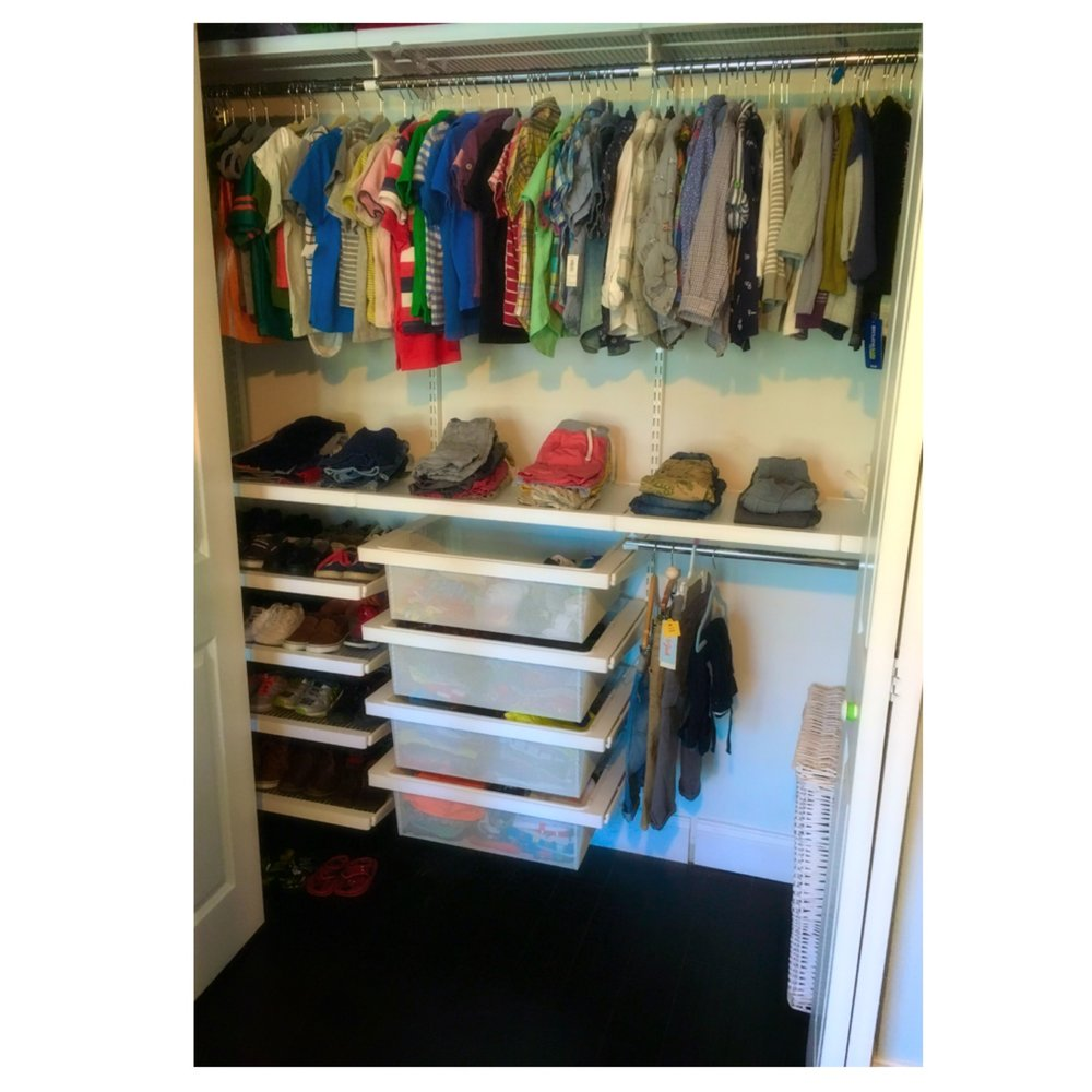 Perfect boy's closet by Neat with Knight