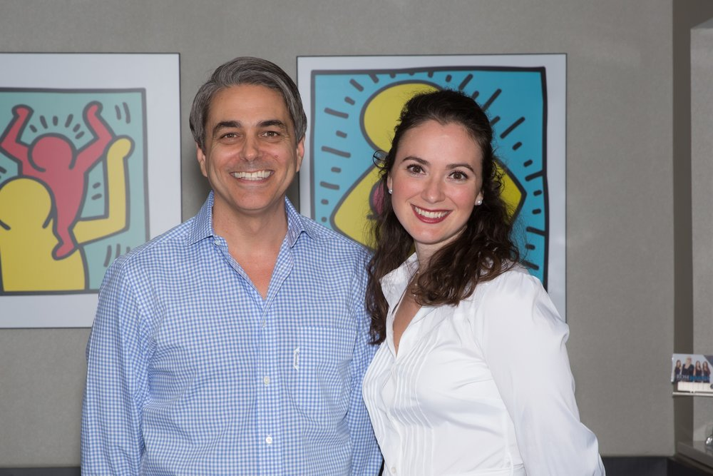 Dr. Gary Kramer and Dr. Rebeca Kimsey at their practice in Coral Gables, Florida.
