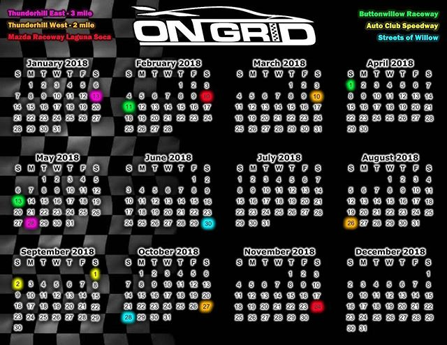 PS: if you haven't seen our 2018 schedule.  Days will be added throughout the season as well!  #2018 #ongrid #ongridtrack #trackspecautosports #schedule #season #trackday #racecar #trackday