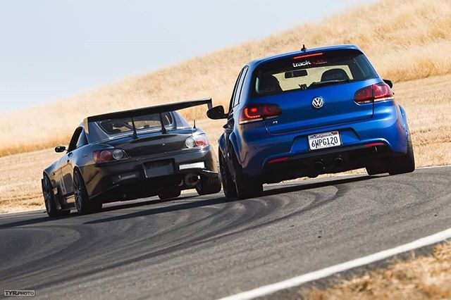 Race tracks with friends.  PC: @tyrphoto  #ongrid #ongridtrack #trackspecautosports #tyrphoto #thunderhill #thunderhillwest #vw #golfr #honda #s2000 #race #track #friends #friday #weekend #grey #silver #blue #family #bayarea