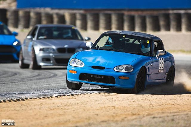 Don't spill your cappuccino.  PC: @tyrphoto  #ongrid #ongridtrack #cappuccino #lagunaseca #mazda #raceway #mazdaracewaylagunaseca #blue #offtrack #ontrack #m3 #bmw #tyrphoto #trackspec #trackspecautosports #trackday #track #day #friends #family