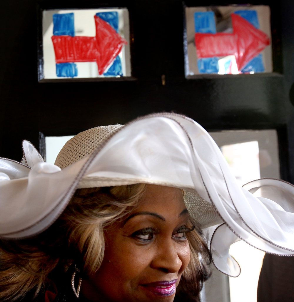 Georgia Rogers of Springfield Township came out to show support for Mrs. Clinton during the opening of Hillary for America Toledo campaign headquarters Thursday, July 7, 2016, in downtown Toledo. More than three dozen local residents and supporters attended the opening event.