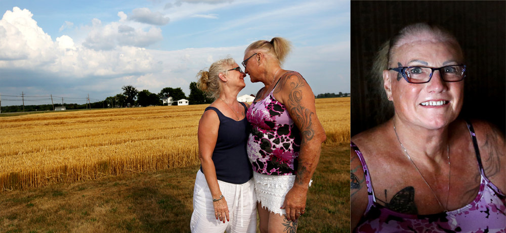 """""""We're just like other people and the more I can help the trans community be accepted the better,"""" Edie Recker, 67, right, said. She and her wife Karen Niese, 59, were recently married. Edie transitioned at a time when few people were doing so publicly. She helped found a support group for trans people and their allies in Toledo and regularly guest lectures about trans issues at Bowling Green State University and other institutions. Since 2010 she has a number of surgeries, including facial feminization, vocal cord surgery and gender reassignment surgery. """"I am who I am. I'm happy with who I am. I'm glad I've done what I've done,"""" Edie said."""