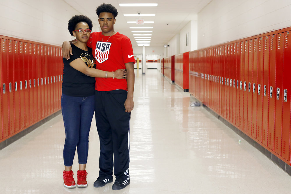 April Taylor had her son Marshaun, 15, recently transferred to Rogers High School for a fresh start. He was suspended three times in the past school year from his previous high school. Ms. Taylor said she didn't feel the punishments were warranted. Black students make up 43 percent of the Toledo Public Schools student population, but account for 67 percent of suspensions in the past year. The number reflect a similar trend of higher rates of suspensions for black students across the country, according to a recent study from the congressional Government Accountability Office.