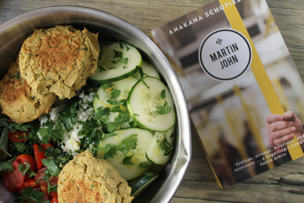 Baked Falafel Salad and Martin John