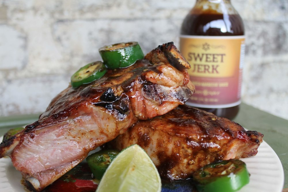 Sweet Jerk Pork Chops