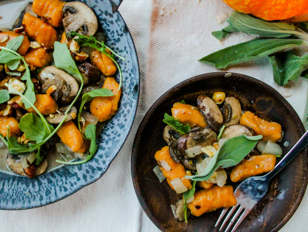 Pumpkin Gnocchi - Gourmet dinner in 20 minutes. Yes please!