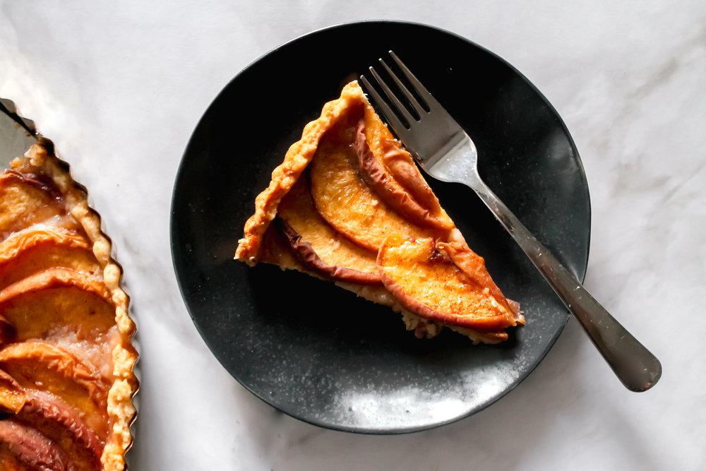 Honey Peach Pie - Or plum or apple or pear.