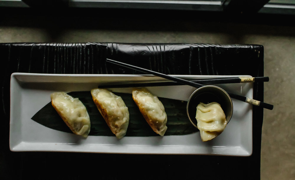Pot Stickers at BiXi Beer