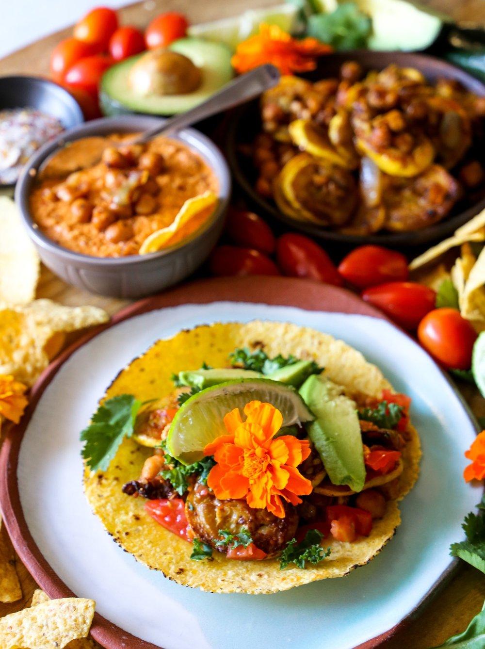 Smoked Veggie Tacos - So good you won't even miss the meat. Or the cheese, because PLOT TWIST, these are vegan!