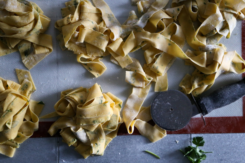 Homemade Pappardelle Pasta - You'll never go back once you've made pasta from scratch.