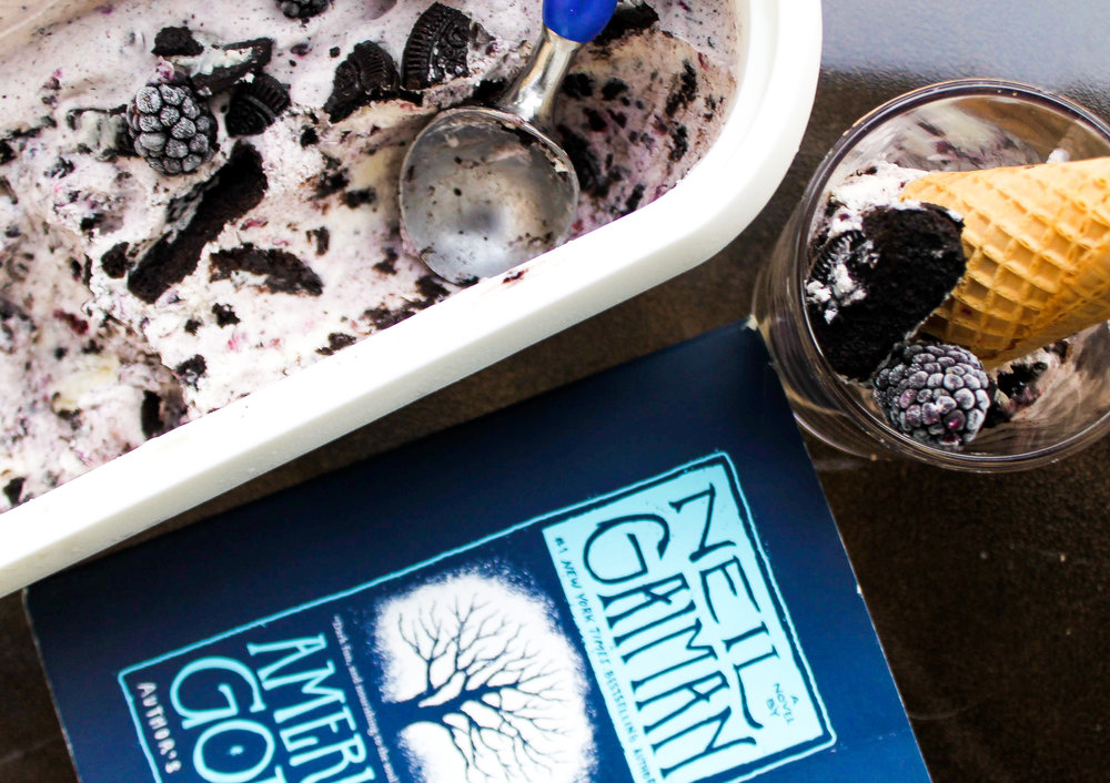 Blackberry Cookies 'n Cream Ice Cream