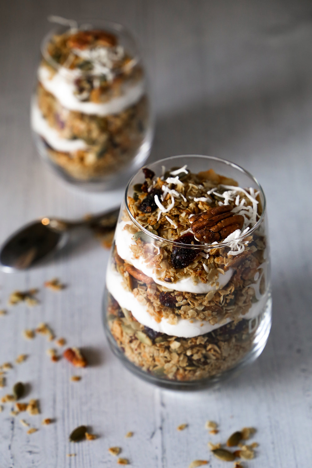 Coconut Parfait Cups - Healthy and all that, but also super delicious. Everyone's happy.