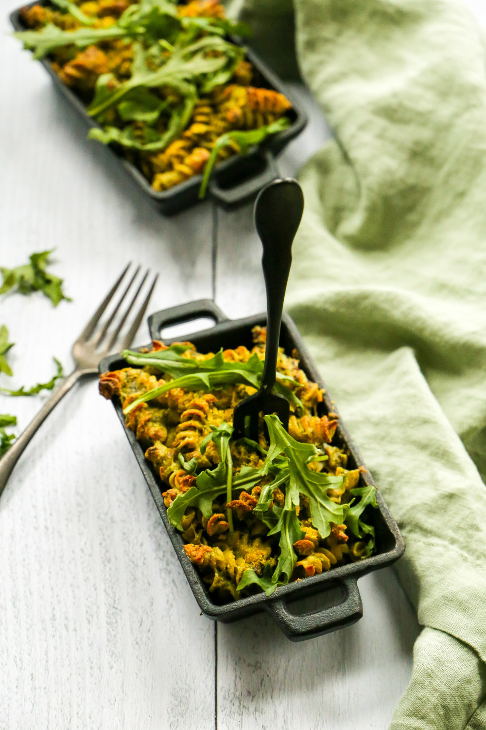 Mac and Cheese and Greens - Because even though St. Patrick's Day is over, you can still love yourself with some greens.
