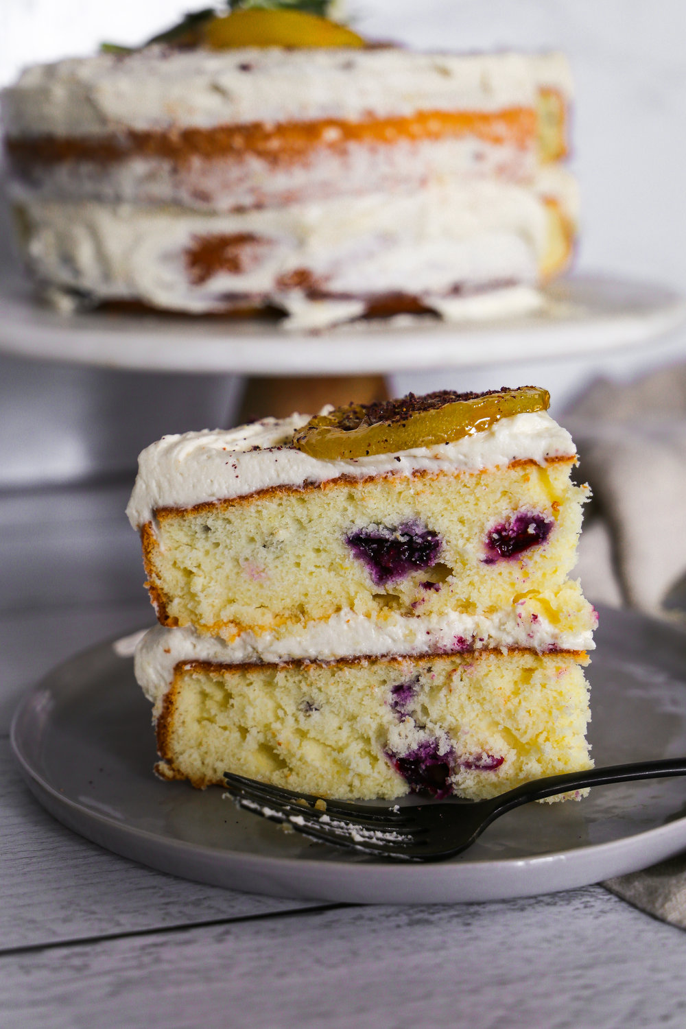 Blueberry Citrus Cake - Meet carrot cake's worst nightmare.