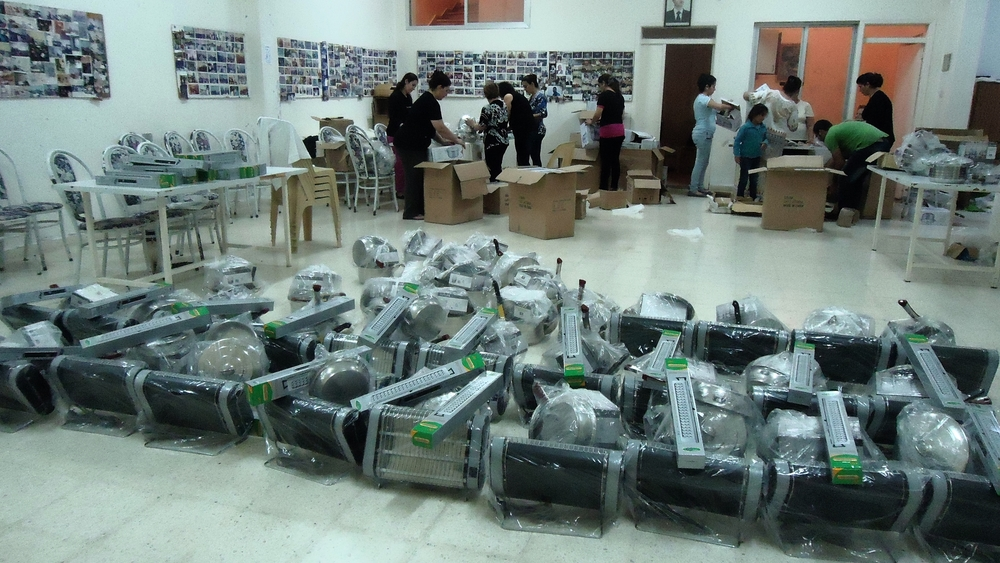 Heaters ready for distribution in Yazdiye, Syria. 2015