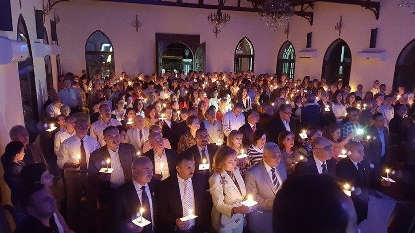Candlelight Service in Aleppo, December 2016