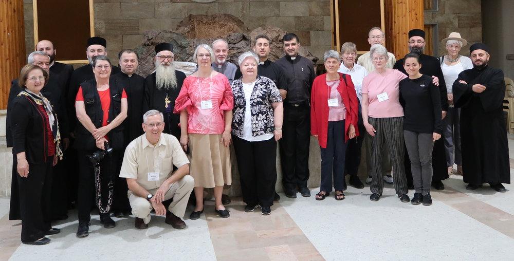 SLPN travelers at the Syriac Orthodox Church in Kamishli, Syria; May 2017.