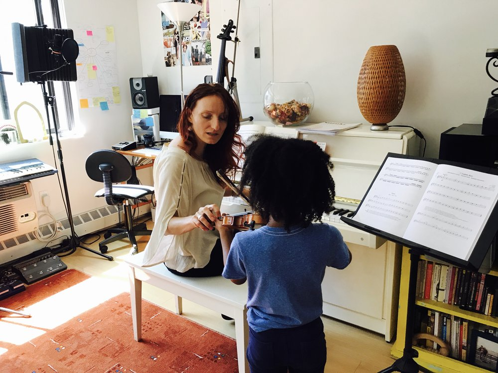 Rose Bartu Teaching Violin in Chelsea