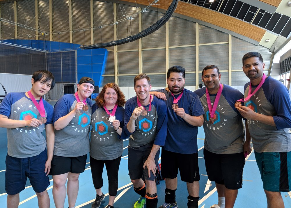 Our Corporate Games hockey team brought home the bronze.