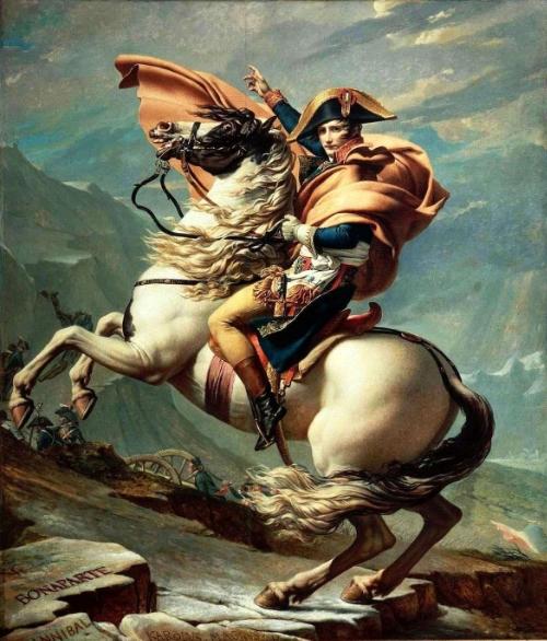 Jaques-Louis David,  Napoleon Crossing the Alps,  1801