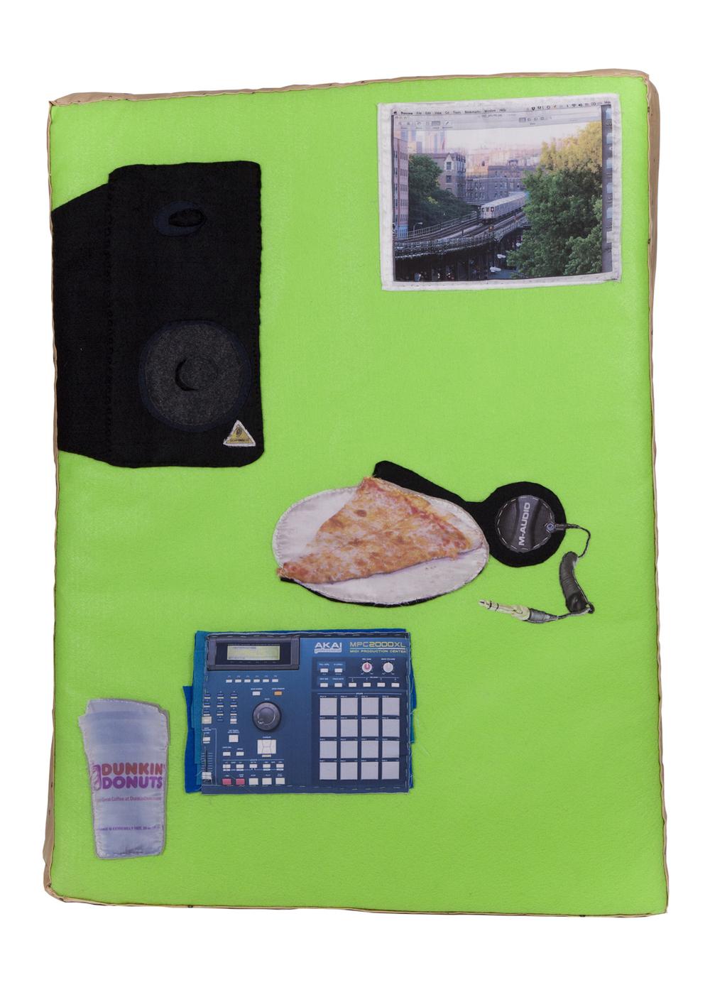 On that grind/Dyckman: La casa de mami , Lucia Hierro,  Digital Print on Fabric/Felt/Mixed Fabrics
