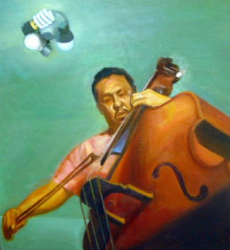 Mingus, 2004, Oil on canvas