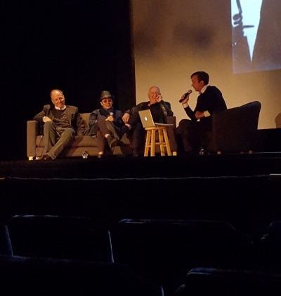 The Rubells and curator during their talk at the Detroit Institute of Arts
