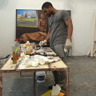 Me working in the studio