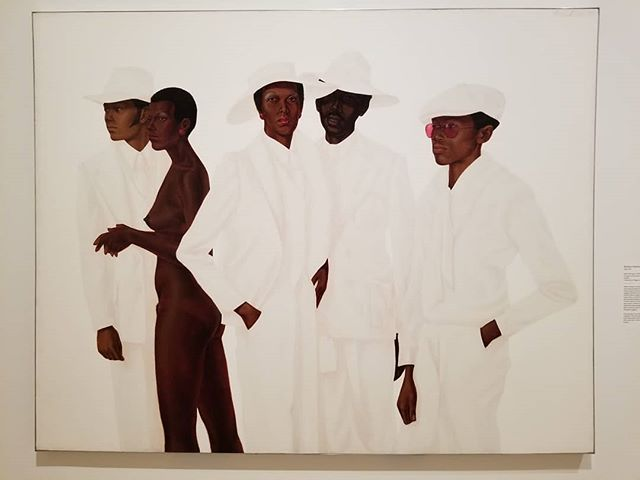 "Barkley Hendricks @brooklynmuseum ""Soul of a Nation"" . #art #painting #blackmensguide #blackmen #blackwoman #figurativepainting #artwork #70s #brooklynmuseum #oilpainting #cool"