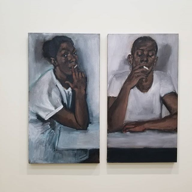 Lynette Yiadom-Boakye in NY. @lynetteyiadomboakye @jackshainman Go and see this show! #power #chill #art #contemporaryart #artwork