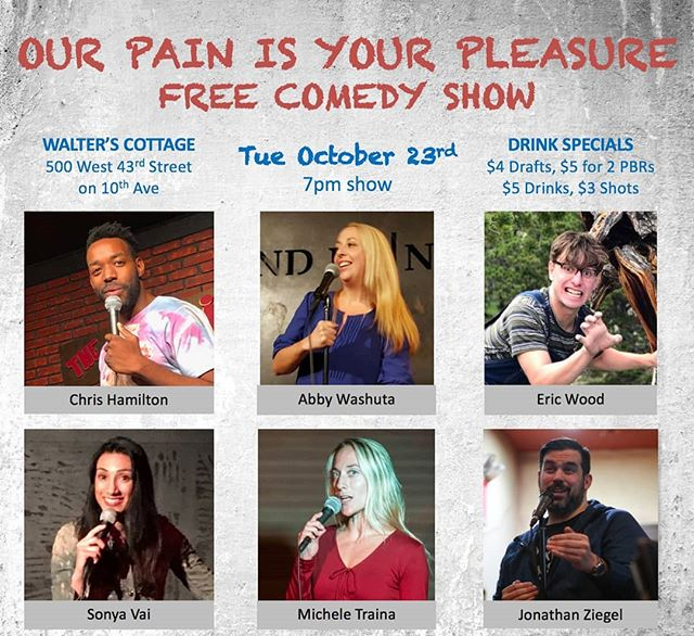 "Don't miss ""Our PAIN is your PLEASURE"" tonight 7pm! It's gon be 🔥🔥🔥"