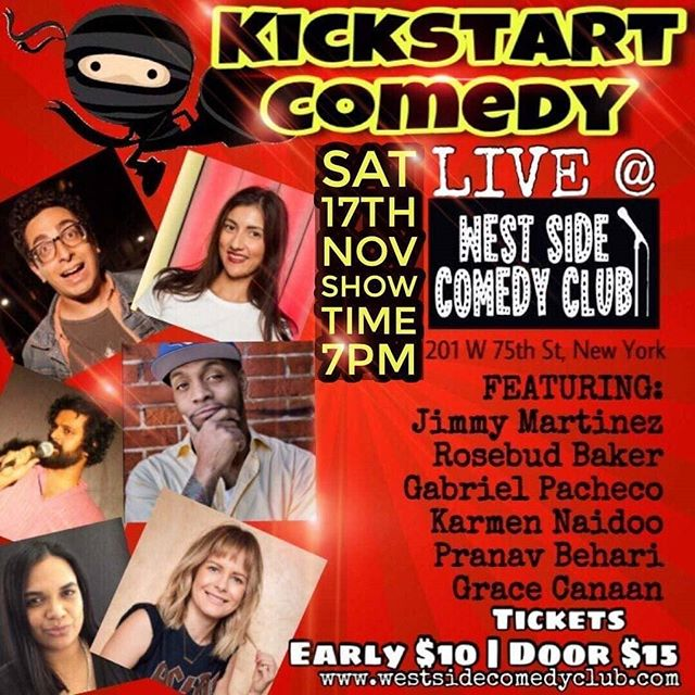 Just got added to this 🔥show! Tonight 7pm @westsidecomedyclub  #standupcomedy #funnyismoney #nycomedy #nyc #browngirllove #ilovewhatido #uws #standup #comedy #saturdaynights #saturdayfun #laughteristhebestmedicine #westsidecomedyclub