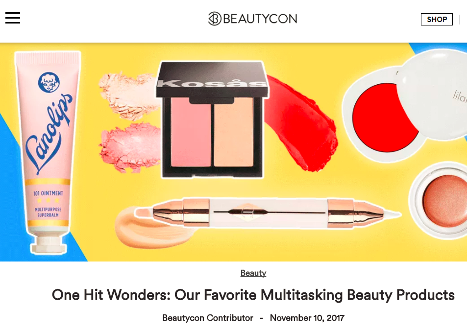 """Are you searching for that must-have, holy grail, brag-to-your-friends-about-how-great-it-is beauty buy? Look no further. We've compiled a short list of our favorite multipurpose beauty products that *actually* live up to their do-it-all claims.""    READ MORE"
